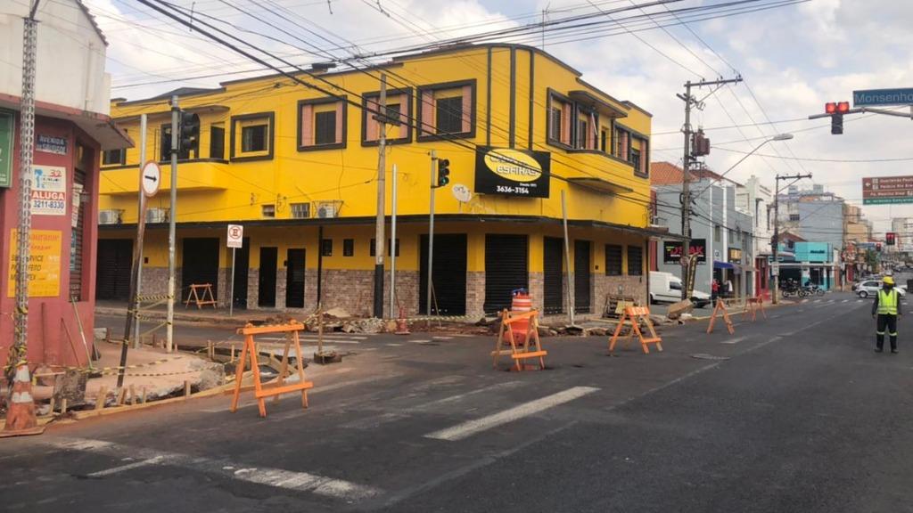 Área interditada após vazamento de gás nos Campos Elíseos - Foto: Naiana Kennedy/ CBN Ribeirão