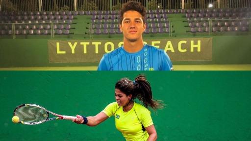 Carol Meligeni e Mateus Alves: jovens tenistas brasileiros se destacam em torneios do mundo