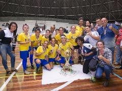 Santana do Jacaré vence de goleada e é a campeã da Taça de Futsal Feminino