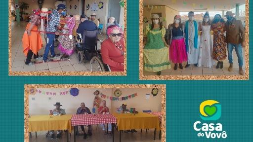 Com todos vacinados, Casa do Vovô realiza Festa Junina com os idosos