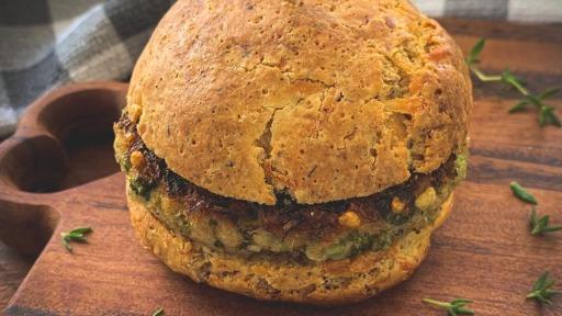 Cardápio do dia: hambúrguer vegetariano de brócolis