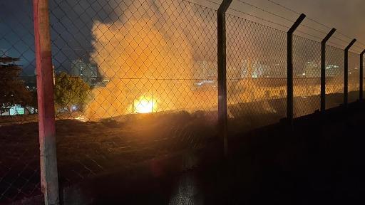 Fogo atinge área no Centro de Araraquara