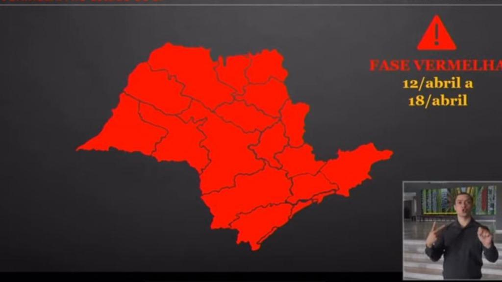 Governo do Estado anuncia volta da fase vermelha na próxima segunda-feira (12)