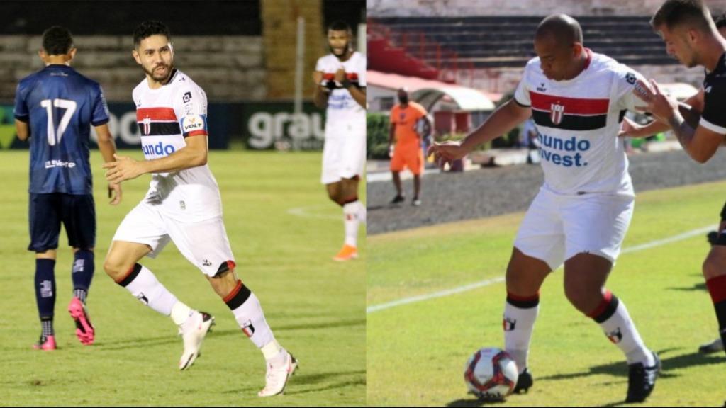 Dupla de centroavantes, Walter e Neto Pessôa formam ataque improvável no Botafogo-SP