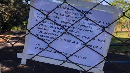 Parques públicos de Araraquara seguem fechados devido à pandemia da covid-19 (Foto: Milton Filho/CBN Araraquara) - Foto: Milton Filho/CBN Araraquara