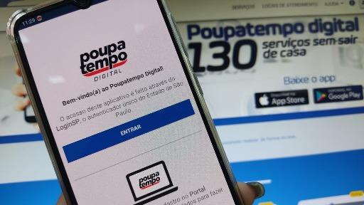 Aplicativo Poupatempo Digital. Foto: ACidade ON São Carlos - Foto: ACidade ON - São Carlos