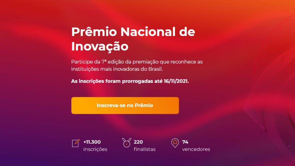 7ª edição do Prêmio Nacional de Inovação tem inscrições até 16 de novembro
