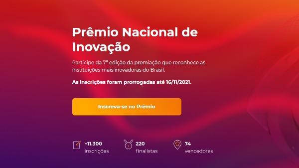 Prêmio Nacional de Inovação - Foto: Divulgação