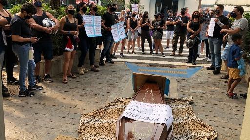 Guardas municipais realizaram manifestação na Câmara de São Carlos