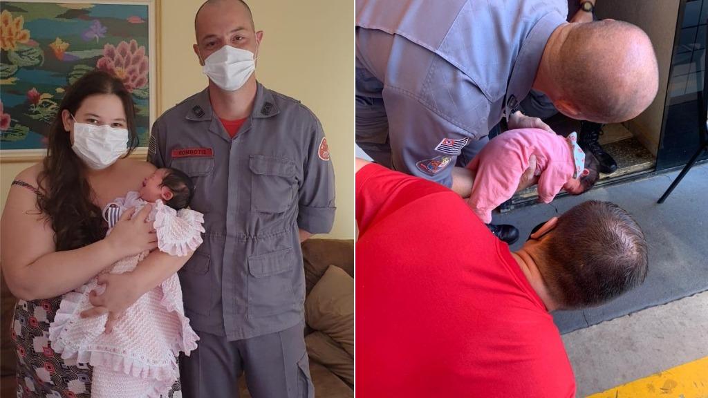 Bombeiro salva vida de recém-nascida engasgada em São Carlos