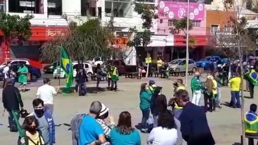 Em São Carlos, manifestantes realizaram manifestação a favor do presidente Jair Bolsonaro e do voto impresso