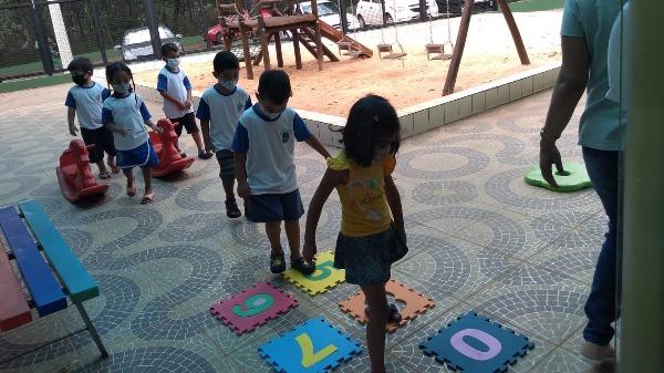 Semana das crianças na Escola Municipal Ruth Zavaglia Gomes foi marcada por muitas brincadeiras. Foto: Divulgação - Foto: Divulgação