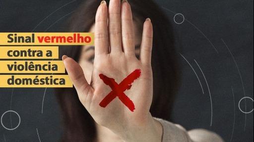 Mulher com sinal vermelho na mão poderá ser pedido de ajuda em Araraquara