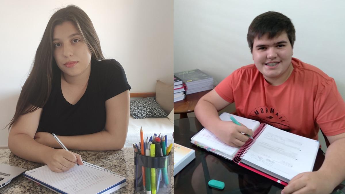 Camile Machado e Nicholas Ferreira, vencedores do Virando Bixo 2020 - Foto: Virando Bixo