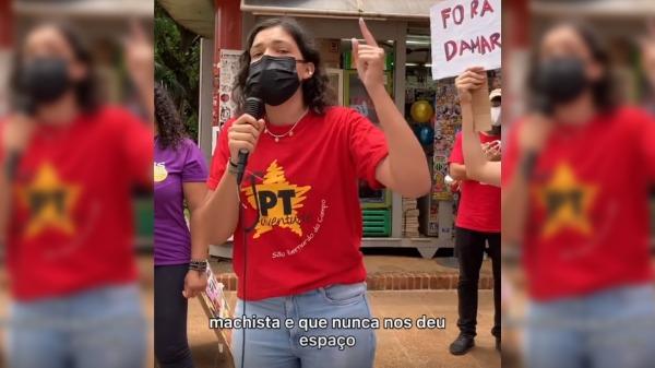 Duda Hidalgo (PT) chama de