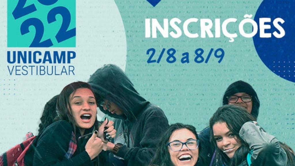 As inscrições para o Vestibular 2022 da Unicamp devem ser feitas no site da Comvest - Foto: Divulgação